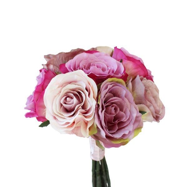 9 Mixed Pink Roses 1