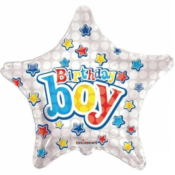 Silver Star Birthday Foil Balloons 1