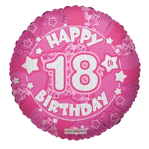 Happy Birthday Pink Foil Balloons 1