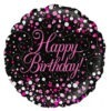 Sparkling Fizz Black and Pink Balloon 2