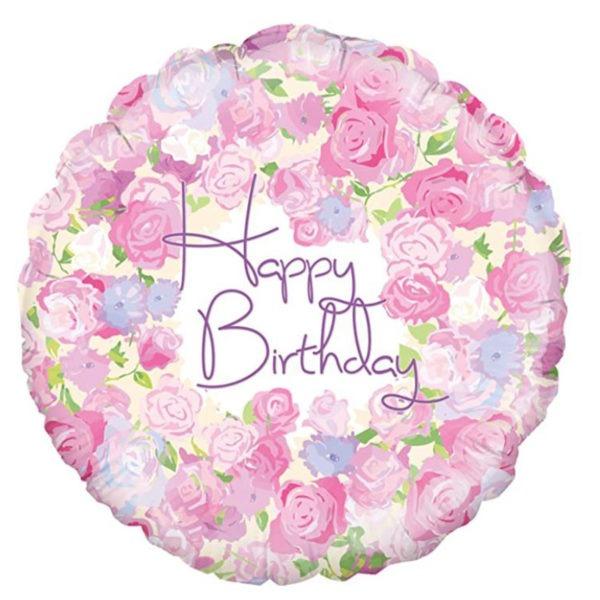 Vintage Floral Birthday Balloon 1