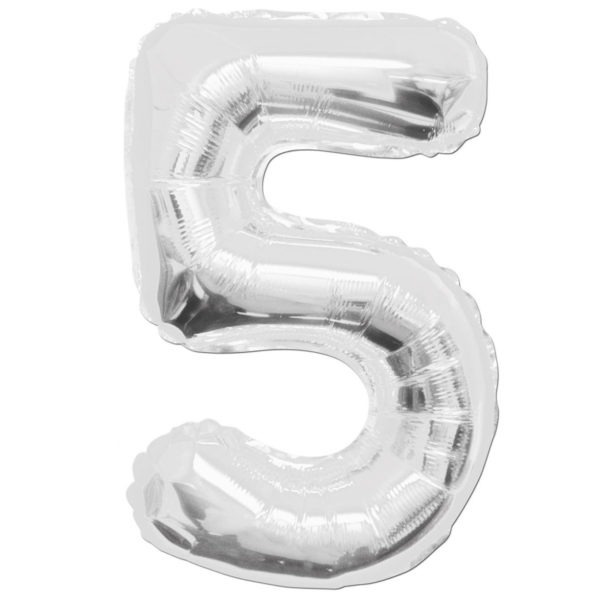 Number 5 Foil Balloons 1