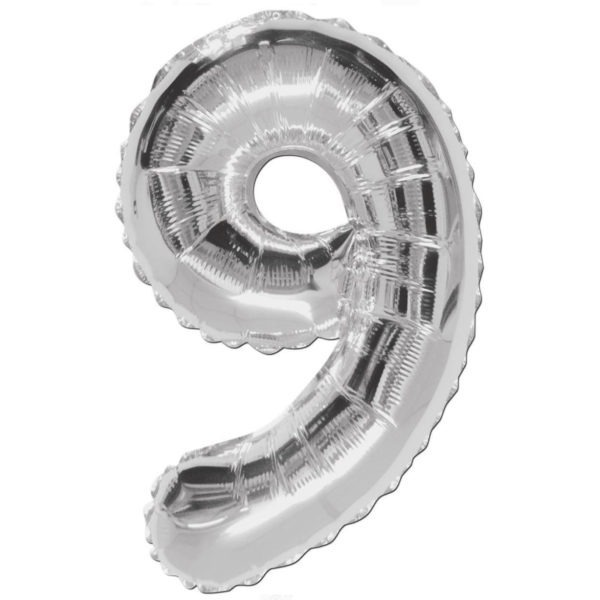 Number 9 Foil Balloons 1