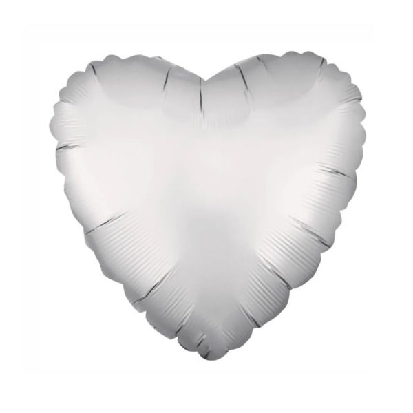 Silver Heart Foil Balloon 1