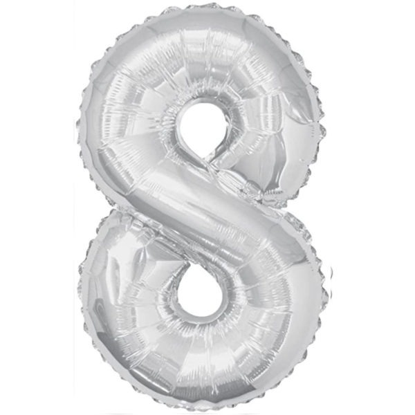 Number 8 Foil Balloons 1