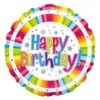Bright Stripe Birthday Balloon 2