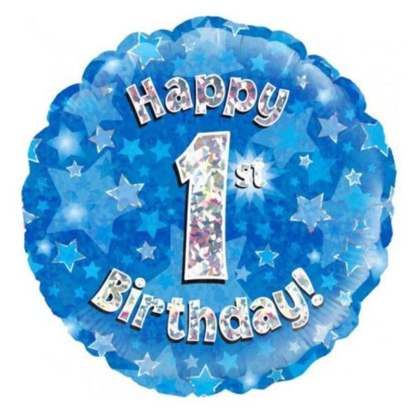 Happy Birthday Blue Foil Balloons 1