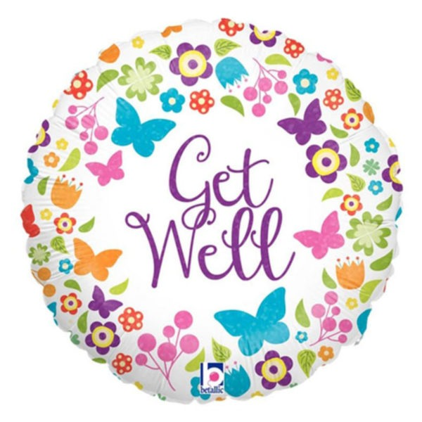 Get Well Soon Butterfly Balloon 1