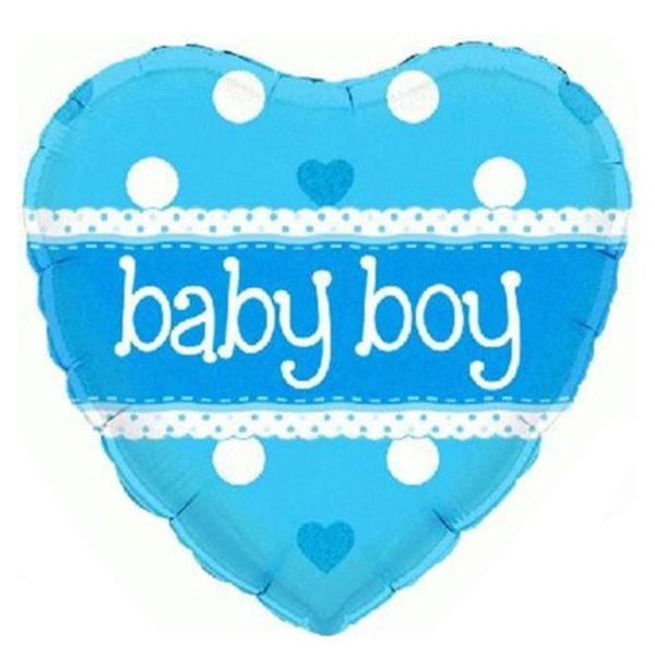 Baby Boy Heart Balloon 1