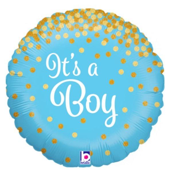 It's a Boy Glittering Balloon 1