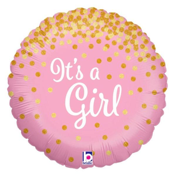 It's a Girl Glittering Balloon 1
