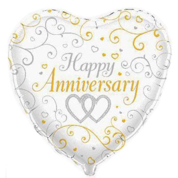 Happy Anniversary Foil Balloon - Heart 1