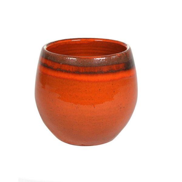 CHARLOTTE Orange Plant Pot 1