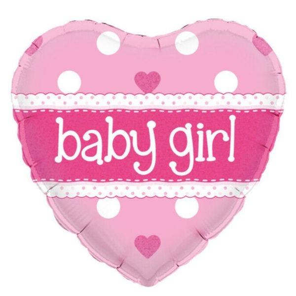 Baby Girl Heart Balloon 1
