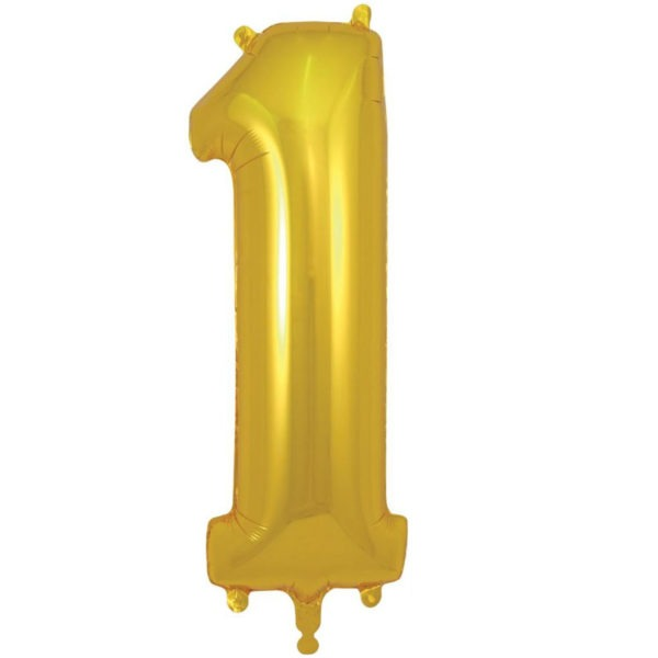 Number 1 Foil Balloons 1